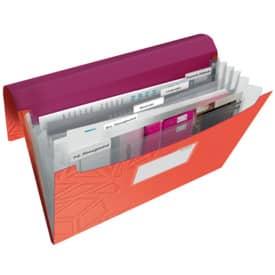 Fächermappe Urban Chic A4 PP rot LEITZ 3997-00-24 5 Fächer