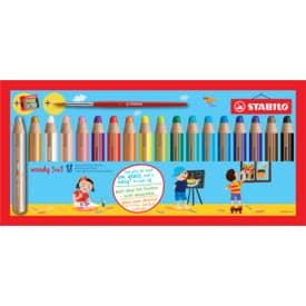 Farbstifte Woody Etui 18 Stück sortiert STABILO 880/18-3 inkl. Spitzer Produktbild