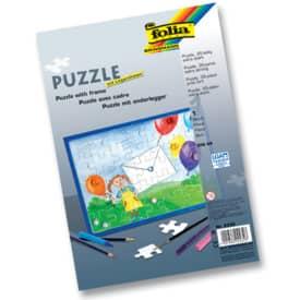 Puzzle 35tlg.blanko weiß FOLIA 2332 A4 m.Rahmen