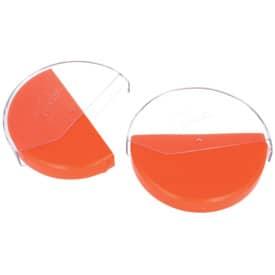 Behälter für Tachoscheiben Aufbewahrungsbox für Diagrammscheiben orange
