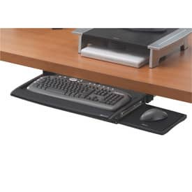 Tastaturschublade mit Mausablage FELLOWES FW8031201 Produktbild Einzelbild 1 L