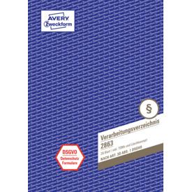 Verarbeitungsverzeichnis A4 28BL weiß/bl