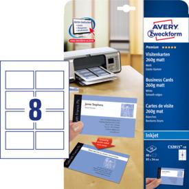 Visitenkarte weiß 80 Kart. Fotoqualität ZWECKFORM C32015-10 85x54mm 260g Produktbild Einzelbild 4 L