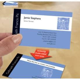 Visitenkarte weiß 80 Kart. Fotoqualität ZWECKFORM C32015-10 85x54mm 260g Produktbild Anwendungsdarstellung 2 L