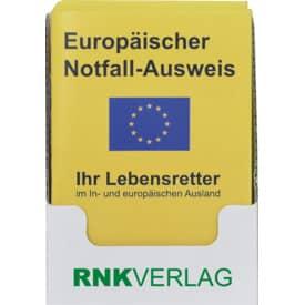 RNK Europäischer Notfall-Ausweis