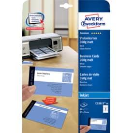 Visitenkarte weiß 80 Kart. Fotoqualität ZWECKFORM C32015-10 85x54mm 260g Produktbild Einzelbild 2 L