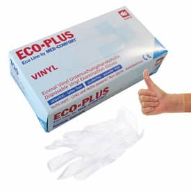 Handschuhe Vinyl L 100ST weiß ECO-PLUS 5 24 63 03 Produktbild
