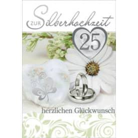 Silberhochzeitskarte 71-210900   Bild