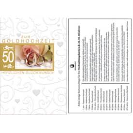 Goldhochzeitskarte 72-202900   Bild