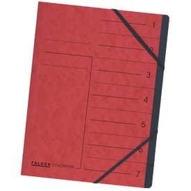 Ordnungsmappe A4 7 Fach rot