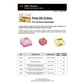 Haftnotizblock Würfel pastellgrün POST-IT 2028G 76x76mm 450Bl Produktbild Produktdatenblatt 1 L