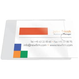 Visitenkartenhülle Selbstklebend Q Connect Kf27038 10 Stück