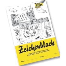 Zeichenblock A4 10 Blatt 120g FOLIA 8104 mit Ecken