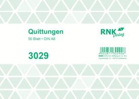 Quittung A6, 50 Blatt RNK 3029 mit MwSt-Nachweis