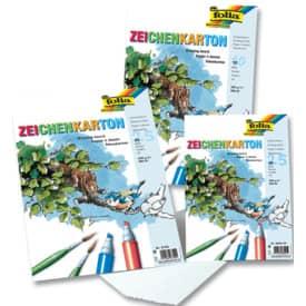 Zeichenkarton A3 25 Blatt weiß FOLIA 8700 200g Zeichenpapier
