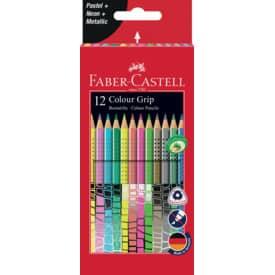 Farbstifte 12ST Colour Grip FABER CASTELL 201569 Produktbild