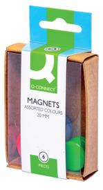 Magnet D 20mm H7mm sortiert Q-CONNECT KF02040 Bk6St Produktbild