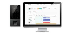 Zeiterfassungsgerät TM-828 anthrazit TIMEMoto 125-0588 RFID / Fingerabdruck Produktbild