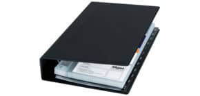 Visitenkartenbuch 14,7x26,5 cm schwarz SIGEL VZ300 f. 200 Karten Produktbild
