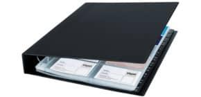 Visitenkartenbuch 27x32,5 cm schwarz SIGEL VZ301 f. 400 Karten Produktbild
