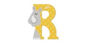 Tierbuchstaben 10cm Rhinozeros TRUDI SEVI 81618 Produktbild