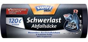 Müllsack 120 Liter 12 Stück schwarz SWIRL 3056305004 Produktbild
