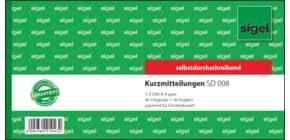 Kurzmitteilung 1/3 A4 quer, 2x40 Blatt SIGEL SD008 selbstdurchschreibend, 21x10cm Produktbild