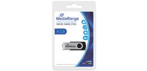 USB Stick 2.0 4GB high speed MEDIARANGE MR907 Produktbild