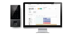 Zeiterfassungsgerät TM626 anthrazit TIMEMoto 125-0586 RFID / Fingerabdruck Produktbild