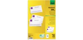 Visitenkarte A4 150 Stück weiß SIGEL DP839 200g 15 Blatt Produktbild