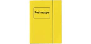 Sammelmappe Postmappe A4 gelb VELOCOLOR 4442 319 mit Gummizug Produktbild