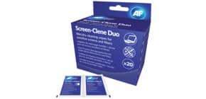 Reinigungtücher nass/trocken AF SCR020, 20 Sets Produktbild