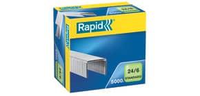 Heftklammer 24/6 Standard verzinkt RAPID 24859800 5000St Produktbild