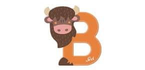 Tierbuchstaben 10cm Bison TRUDI SEVI 83002/81602 Produktbild