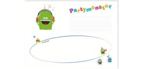 Schreibunterlage Partymon RNK 46627 30 Blatt 48x33cm Produktbild