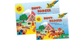 Glanzpapier 24x34cm gummiert FOLIA 777 12 Blatt Buntpapierheft Produktbild