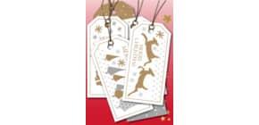 Weihn.Anhänger Merry Christmas 6ST HERMA 15273 beglimmert Produktbild