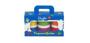 Fingerfarbe 60ml 6ST sortiert LÄUFER 87066 Produktbild
