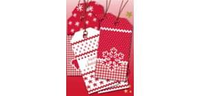 Weihn.Anhänger White Christmas 6ST HERMA 15274 beglimmert Produktbild