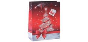 Weihn.Geschenktragetasche 17x23x9cm SIGEL GT023 Small Sparkling Tree Produktbild