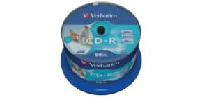CD Rohling 80Min 700M bedruckb VERBATIM 43438 50ST Spind Produktbild