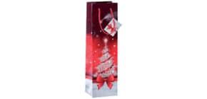 Weihn.Flaschentragetasche 10x35x8cm SIGEL GT024 Bottle Sparkling Tree Produktbild