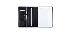 Schreibmappe Nappaleder schwarz ALASSIO 43006 Cremona Produktbild