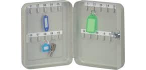Schlüsselschrank für 20 Schlüssel grau Q-CONNECT KF02605 Produktbild