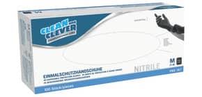 Handschuhe 100ST PRO 167 L schwarz CLEAN&CLEVER 2117718 NITRIL Produktbild