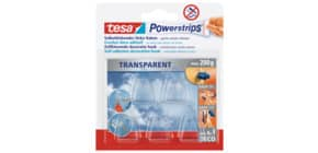 Power Strips Deco Haken transparent TESA 58900-13 5 Stück + 8 STRIPS Produktbild