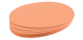 Moderationskarte 500 Stück orange FRANKEN UMZ111905 oval 11x19 mm Produktbild