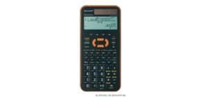 Schulrechner 4-zeilig orange 80x168x14mm SHARP ELW531XG-YR/THWH Solar+Batt Produktbild