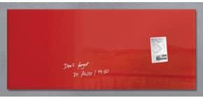 Magnettafel 130x55cm rot SIGEL GL242 artverumXL Produktbild