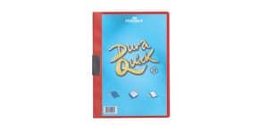 Klemmmappe Duraquick A4 rot DURABLE 2270 03 Plastik, 20 Blatt Produktbild